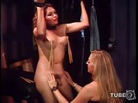 Hot shemale getting amazing satisfaction from a slut