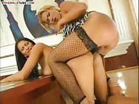 Shemale fiercely fucking pussy of her friend
