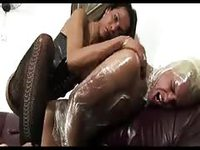 Shemale fucking her man in wrapping paper
