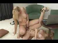 Couple of girlfriends fuck for real