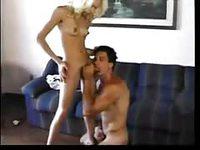 Horny couple fucks anal sex