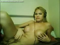 Hot blondie has a hard dick