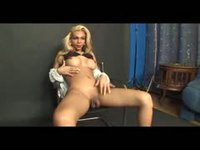Blondie gets cock sucked by a man