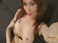 Attractive Tranny showing off her big dick