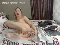 Amateur video of a Shemale masturbating