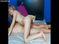 Pretty chick teasing her boyfriend