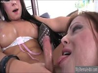 Two shemale sluts sexing each other