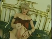 Blonde Tranny fucked hard in the ass