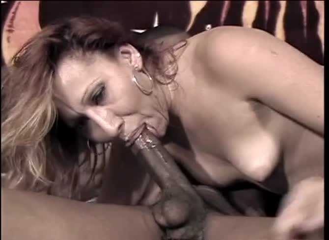 deepthroat black cock Shemale