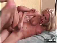 Sexy young Tgirl riding a rock hard cock