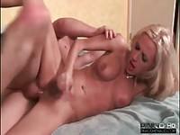 Sexy young Tgirl riding a rock hard cock