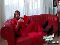 Bubble butt tranny fucking her bondage slut hard