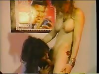Naughty cock sucking and anal play in this classic hardcore shemale fucking video