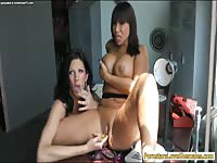 Never before seen dark-haired cougar has her transsexual sex fantasy satisfied in this movie