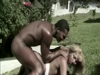 Well-Endowed black stallion going balls deep on stunning transsexual slut Erica Bellisima ass