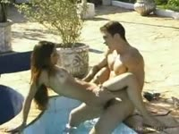 Isabelli Branco seduced poolside by an endowed dude that always wanted to fuck a tranny