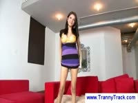 First-timer Jamie Paige making her amateur transsexual movie debut in this personal video