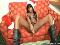 Never before seen transsexual cougar Kima exposing her flawless body and toying her own ass