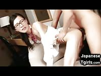 Teen Asian Newhalf Gives Him So Much Cum!