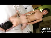 Teen Tgirl and Her GF Making Love!