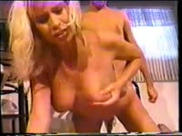 After once shy blonde shemale beauty Stasha sucks dick she bends over for thick dick entry