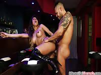 Horny latin shemale with big tits fucked hard by latin cock