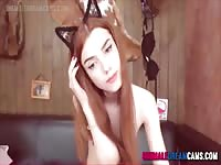 Naked Kitty Tranny Camshow - ShemaleDreamCams.Com