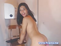 Hot Teen Tranny in Braces Shaking her Hot Ass