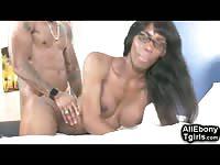 Slim Teen African Tgirl Takes BBC!