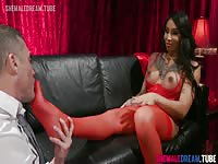 TS Honey Foxxx Private Dancer Feet Worship- ShemaleDreamTube
